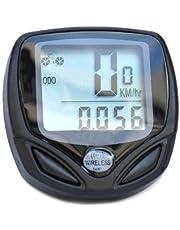 YKS Digital Wireless Bicycle Bike LCD Cycling Computer Odometer Speedometer Black