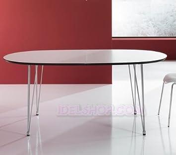 Idelshop Tisch Elliptisch Ausziehbar Mit Beinen A Nadel Amazonde