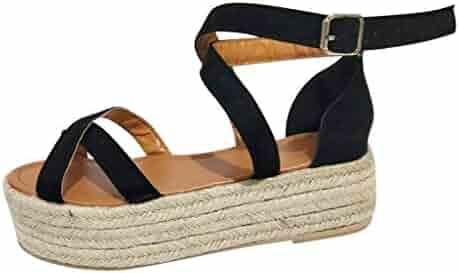 59377c0108 Coco-Z 2019 New Summer Womens Platform Ladies Wedge Pumps Straw Thick  Bottom Shoes Ladies