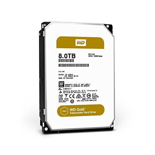 WD Gold 8TB Datacenter Hard Disk Drive - 7200 RPM Class SATA 6 Gb/s 128MB Cache 3.5 Inch - WD8002FRYZ by Western Digital