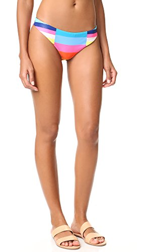 Mara Hoffman Women's Classic Reversible Bikini Bottoms, Rainbow Multi, Large