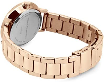 French Connection Women's Quartz Stainless-Steel Strap, Rose Gold, 14 Casual Watch (Model: FC1323RGM)