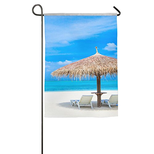 WYIZYIQA Ocean Sun And Umbrella Summer Garden Flag Yard Deco
