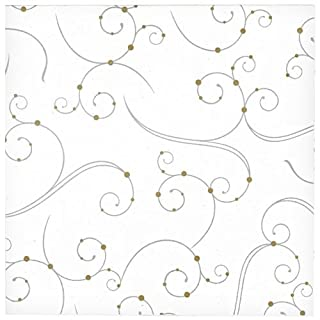"""Hanna K. Signature Collection 40 Count""""Swirls & Pearls"""" Paper Lunch Napkin (B00NL7I2RM) 