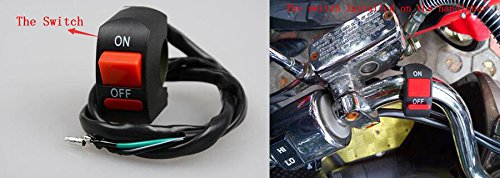 GOODKSSOP 2pcs Super Bright 3000LM CREE U5 125W LED Motorcycle Universal Headlight Work Light Driving Fog Spot Lamp Night Safety Headlamp + 1pcs Switch (Black) by GOODKSSOP (Image #6)