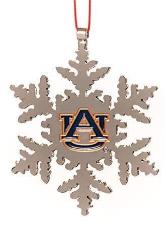(Collegiate Pulse Auburn Tigers NCAA Snowflake Christmas Ornament)