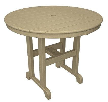 36 inch round dining table modern polywood rt236sa round dining table 36inch sand amazoncom
