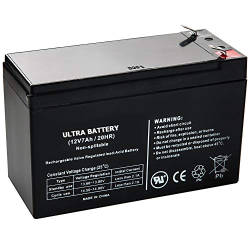 Replacement Battery for Intelligent LCD CP585LCD CP600LCD 12V 7.5Ah