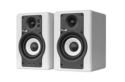 Fluid Audio F4 (Pair) - 4'' Active Studio Reference Monitors, White by Fluid Audio