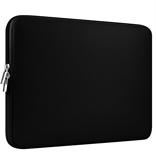 CCPK 15 Inch Laptop Sleeve 15-15.6 Inch Compatible for MacBook Pro 15.4-inch Soft Case Cover Bag 15 Computer Protective Bags Notebook Paded Sleeves Neoprene, Black