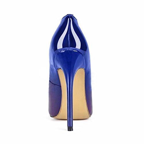 MerMer Zapatos De Tacón Alto de Aguja Poca de Pez Clasico Morado Para Fiesta