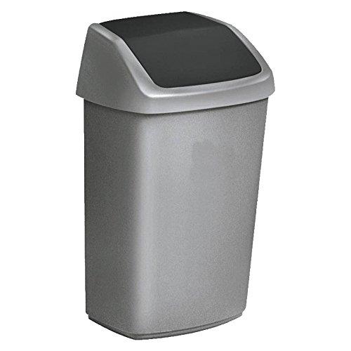 CURVER Abfallbehälter mit Schwingdeckel 24,5 x 20 x 37 cm 10 l