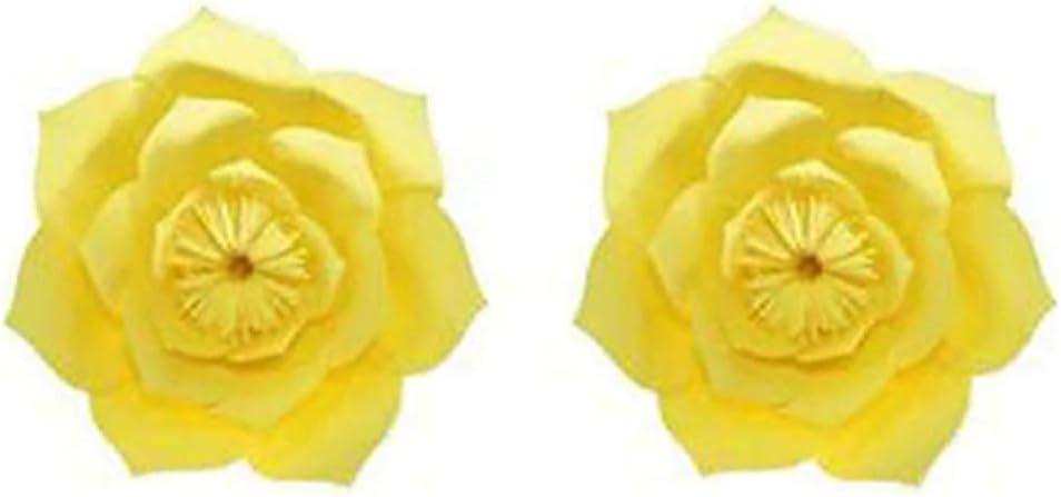 Orange WopenJucy Mariage Anniversaire F/ête en Trois Dimensions D/écoration De Fleurs en Papier D/écoration De Fen/être Bricolage Fleur