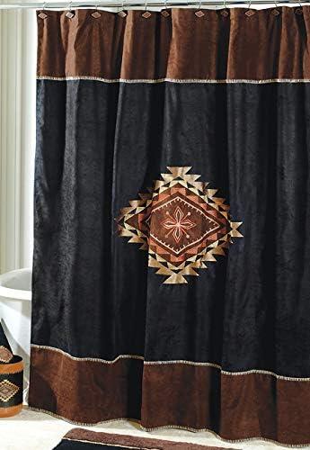 Set Of 12 Shower Curtain Hooks Wolf Pack Lodge Log Cabin Bathroom Home Decor