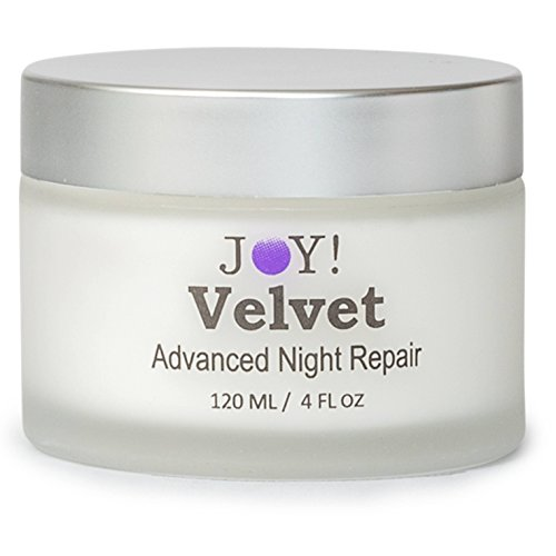JOY Velvet Advanced Face Neck Night Repair Cream Best of 2017. Great for Hands, Arms Legs too Vitamin A,B5,K,E, Jojoba Oil,Grape Seed Extract Pacific Sea Kelp. 60 Day Supply