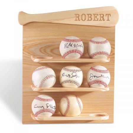 Lillian Vernon Personalized Baseball Display Shelf
