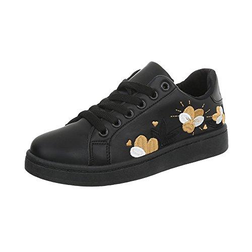 Design Donna 1 Low Sneaker da 95 Piatto Scarpe Ital Sneakers nero A gxSdd
