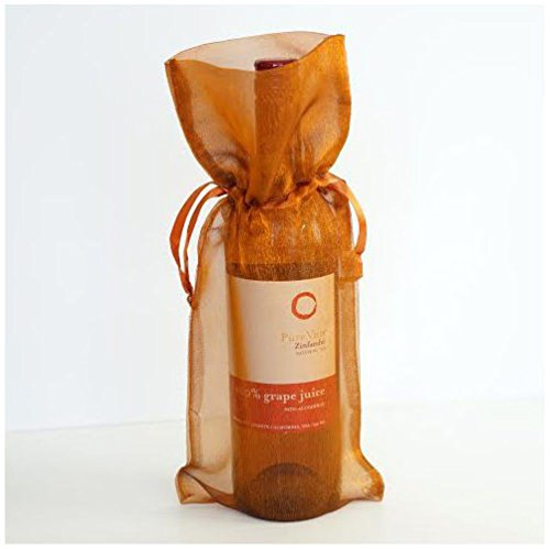 Dorigan home series 4X Copper Bronze Gold Wine Bag Gift Favor Pouch 6X14 Gift Bags Organza Satin ()