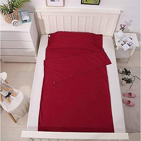 WZSP - Funda para Saco de Dormir de Acampada, Camping, Hotel, Senderismo,