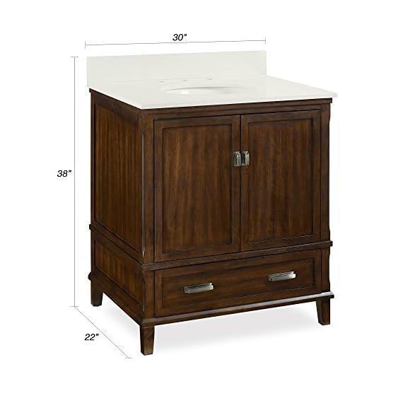 "Dorel Living Otum 30"" Bathroom Vanity, Dark Walnut - Traditional designed 30"" bathroom Vanity Designed for any master bathroom or powder room Crafted of solid wood, engineered wood and fine wood veneer - bathroom-vanities, bathroom-fixtures-hardware, bathroom - 41co8oBZFxL. SS570  -"