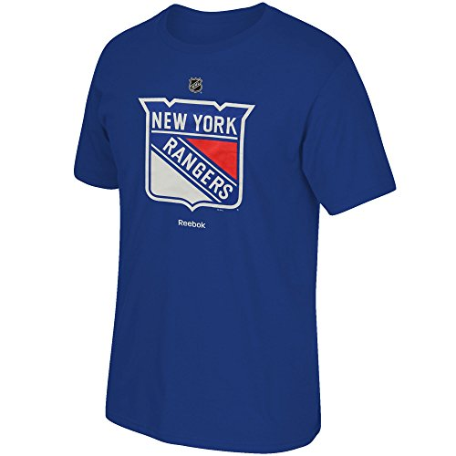 OuterStuff NHL Youth Performance Team Color Primary Logo T-Shirt (Small 8, New York Rangers)