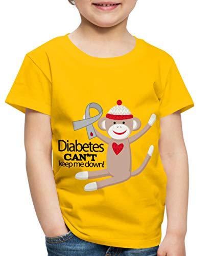 (Spreadshirt Diabetes Awareness Slogan Toddler Premium T-Shirt, Youth 2T, Sun Yellow)