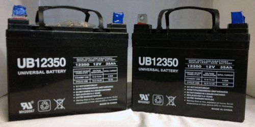 (Universal Power Group UB12350 12V 35Ah PRIDE Victory AGM1234T Scooter Replacement Battery - 2 Pack)