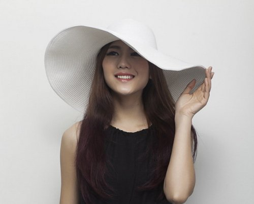 EOZY 1Pcs Chapeau de Paille Plage Chapeau Larges Bords Femmes En Eté Blanc