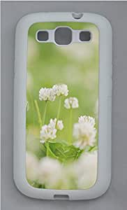 Samsung S3 Case White Clover TPU Custom Samsung S3 Case Cover White