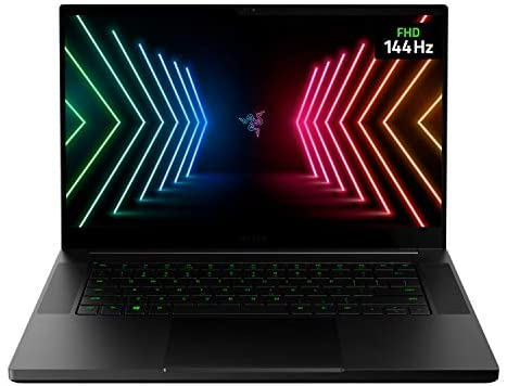 "Razer Blade 15 Base Gaming Laptop 2021: Intel Core i7-10750H 6 Core, NVIDIA GeForce RTX 3060, 15.6"" FHD 1080p 144Hz, 16GB, 512GB SSD - CNC Aluminum - Chroma RGB Lighting - Thunderbolt 3"
