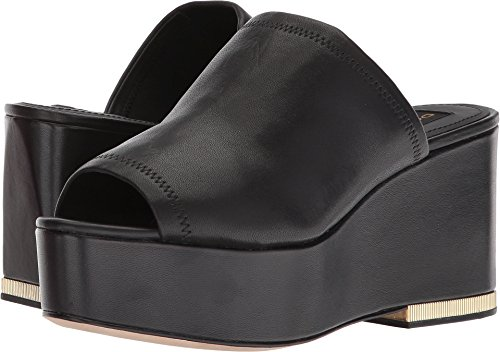 Donna Karan Women's Sade Sandal Black Leather Stretch Nappa 7 M US (Stretch Nappa Footwear)