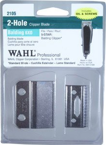 Wahl Professional Balding 6X0 Clipper Blade 2150, For the 5 Star Series Balding Clipper, Includes Oil, Screws, and Instructions