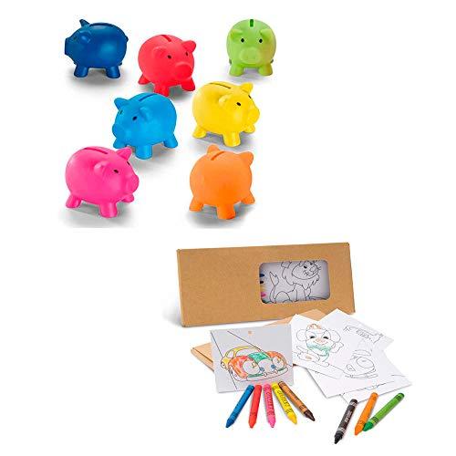 10 Sets Plantillas con Dibujos y Ceras para Colorear + 10 ...