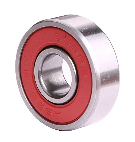 Mini Skater Abec 9 Precision 608 ZZ Bearings for Longboards and Skateboards (8pcs,Red)