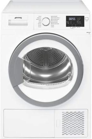 Smeg DHT71EIT-1 Independiente Carga frontal 7kg A+ Plata, Color blanco - Secadora (Independiente, Carga frontal, Bomba de calor, Plata, Blanco, Giratorio, Derecho)