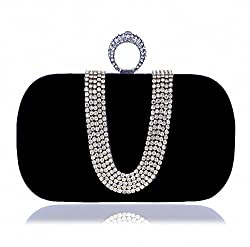 Women Crystal Finger Clutch