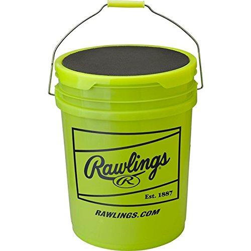 Rawlings RFPBUCK5G6PK 5 gallon Empty Yellow Softball Bucket