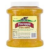 TableTop King 1/2 Gallon Pineapple Ice Cream Sundae Topping - 6/Case