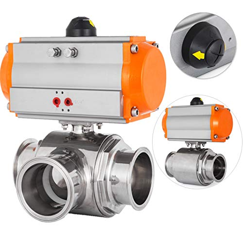 Happybuy Pneumatic Actuated Ball Valve 4