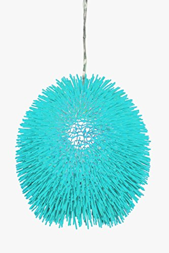- Varaluz 169P01AQ Urchin 1-Light Pendant - Aqua Velvet Finish