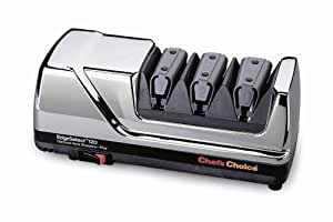 Chef's Choice 120 Diamond Hone 3-Stage Professional Knife Sharpener, Chrome