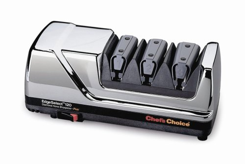 Chef's Choice 120 Diamond Hone 3-Stage Professional Knife Sharpener, Chrome by Chef's Choice