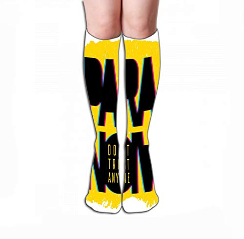 Xunulyn Women Girls Novelty Funny Crew Socks 19.7