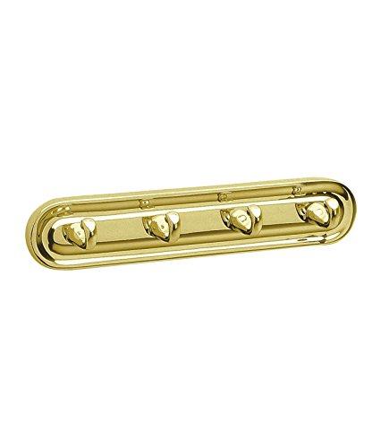(Smedbo SME V259 Towel Hook Quadruple, Polished Brass)