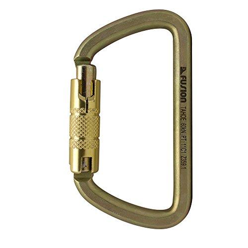 - Fusion Climb Tahoe Steel Screw Lock Key Nose D Carabiner