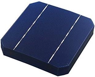 Vikocell 40pcs Ein Grad 2.7W 125MM Solarzelle 5x5 monokristallines Silikon für DIY Haus-Sonnenkollektor