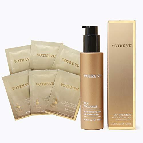 Votre Vu - SILK STOCKINGS - Golden Body Bronzer + 6 Packet Set (3.38 fl. oz / 1.5 fl. oz) ()