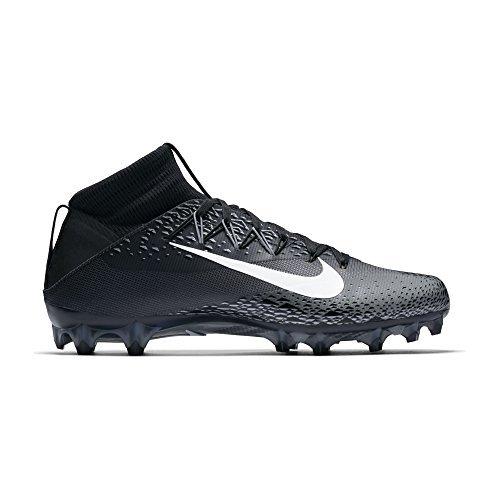 Nike Football Shift - Nike Men's Vapor Untouchable 2 Football Cleat Black/White/Metallic Silver/Anthracite Size 10.5 M US
