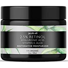 Rich Retinol Cream - Top Influencer - Organic & Vegan - Luxury Quality Moisturizer for Face & Eye Packed with Organic Retinol, Vitamin E, Jojoba Oil, Hyaluronic Acid, Shea Butter, Organic Aloe & More.