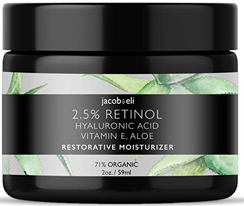 Rich Retinol Cream - Top Influencer - Organic & Vegan - Luxury Quality Moisturizer for Face & Eye Packed with Organic Retinol, Vitamin E, Jojoba Oil, Hyaluronic Acid, Shea Butter, Organic Aloe & More. (Overnight Firming Cream)